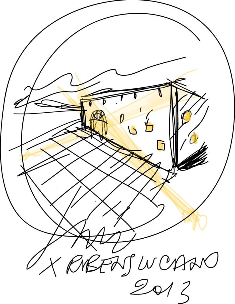 Disegno di Simone Micheli per Rubens Luciano