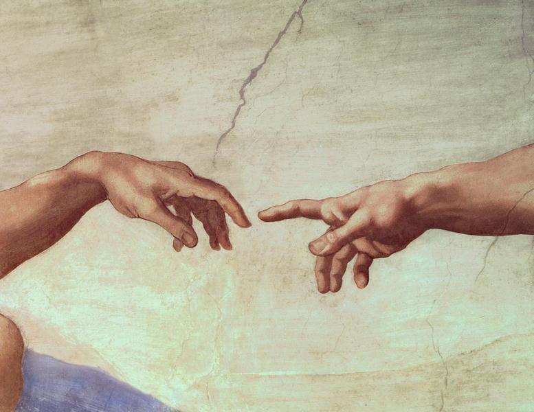 The Creation of Adam hand