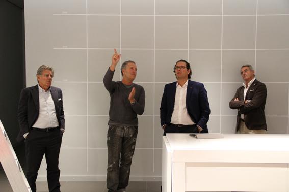 da sinistra: Adolfo Guzzini |Simone Micheli | Massimiliano Guzzini | Franco Nibaldi