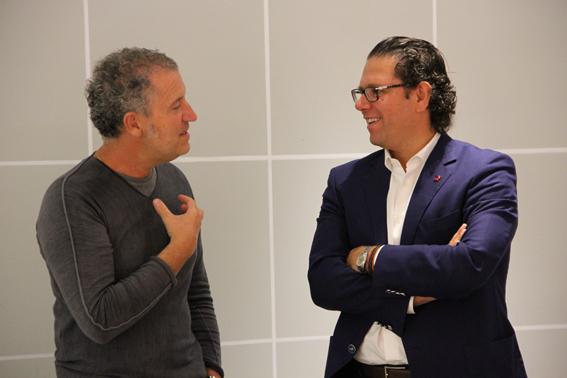da sinistra: Simone Micheli | Massimiliano Guzzini