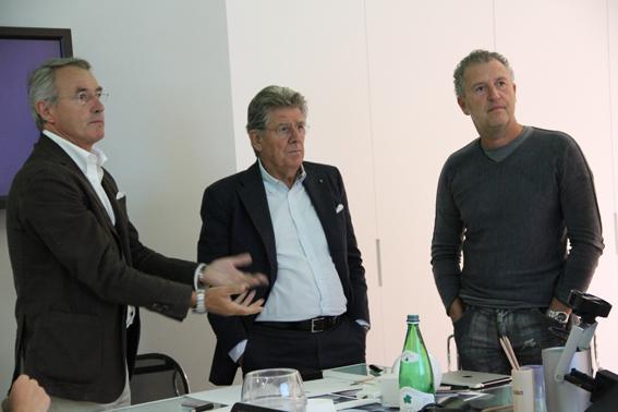 da sinistra: Franco Nibaldi| Adolfo Guzzini | Simone Micheli