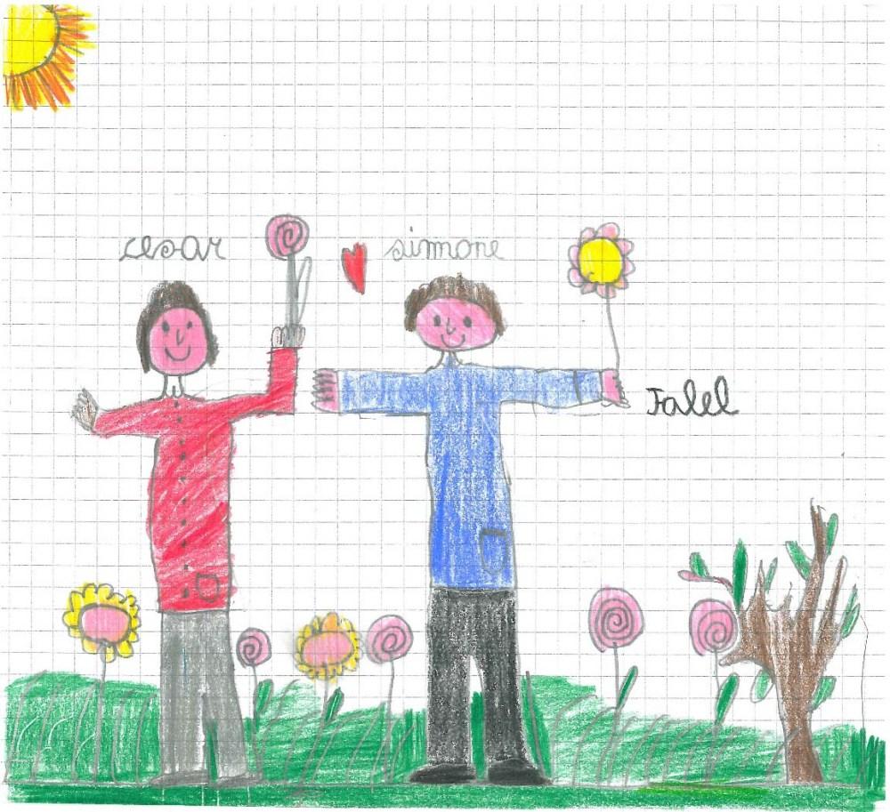 Simone e Cesar Micheli disegnati da Jalel Micheli