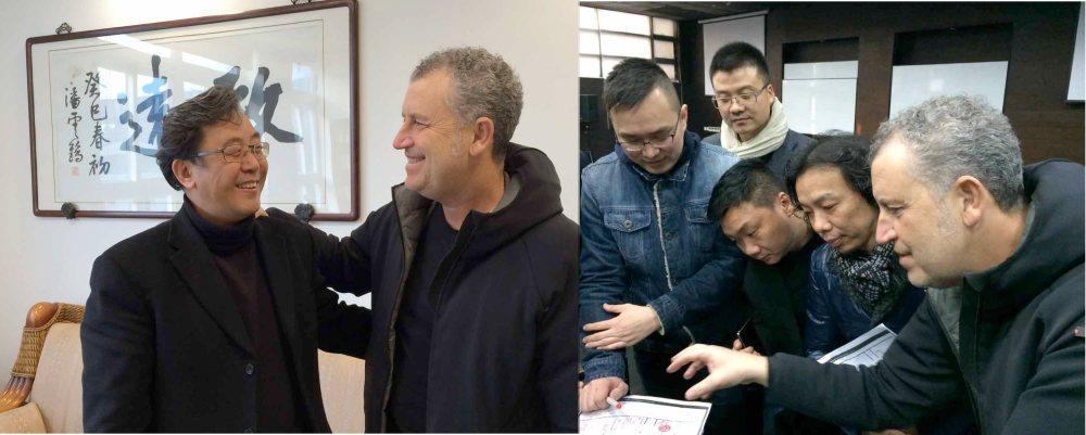 Simone Micheli e  Wu Siegfried Zhiqiang | Simone Micheli con un gruppo di studenti alla Tongji University di Shanghai