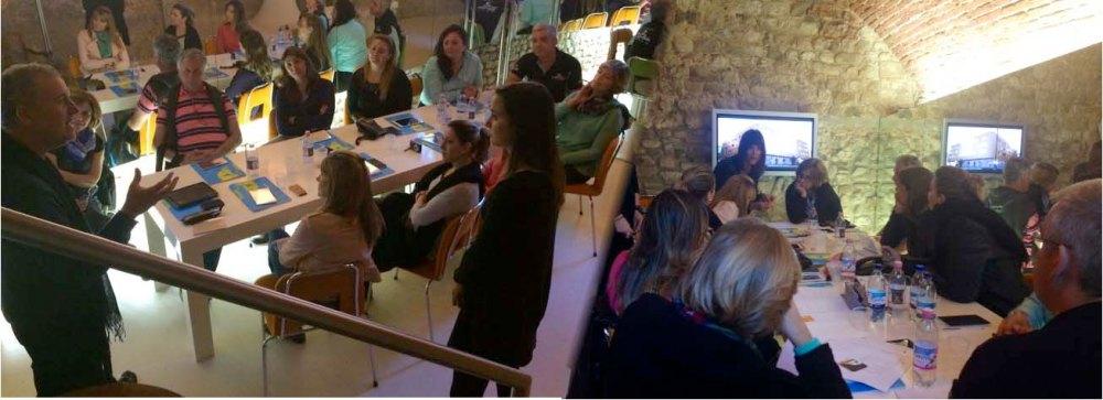 Simone Micheli e Roberta Colla durante il workshop con  gli ospiti brasiliani