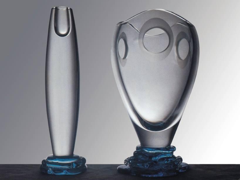 Evoluzione Vase and Candelabra collection | 1992 design by Simone Micheli Company Seguso Vetri d'Arte Murano, Venice - Italy photo by Corrado