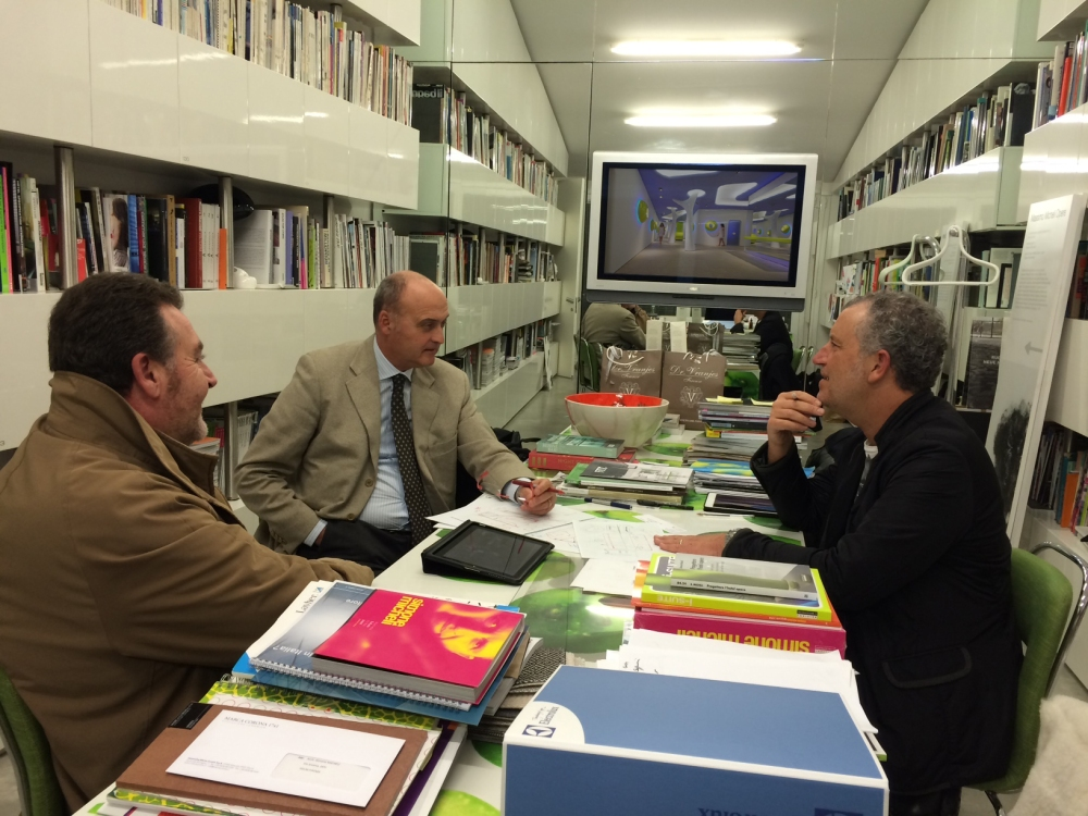 Architetto Simone Micheli, General Manager Arca srl Massimo Voglino, Responsabile Vendite Leonardo Innocenti - Meeting at Simone Micheli Studio | Firenze