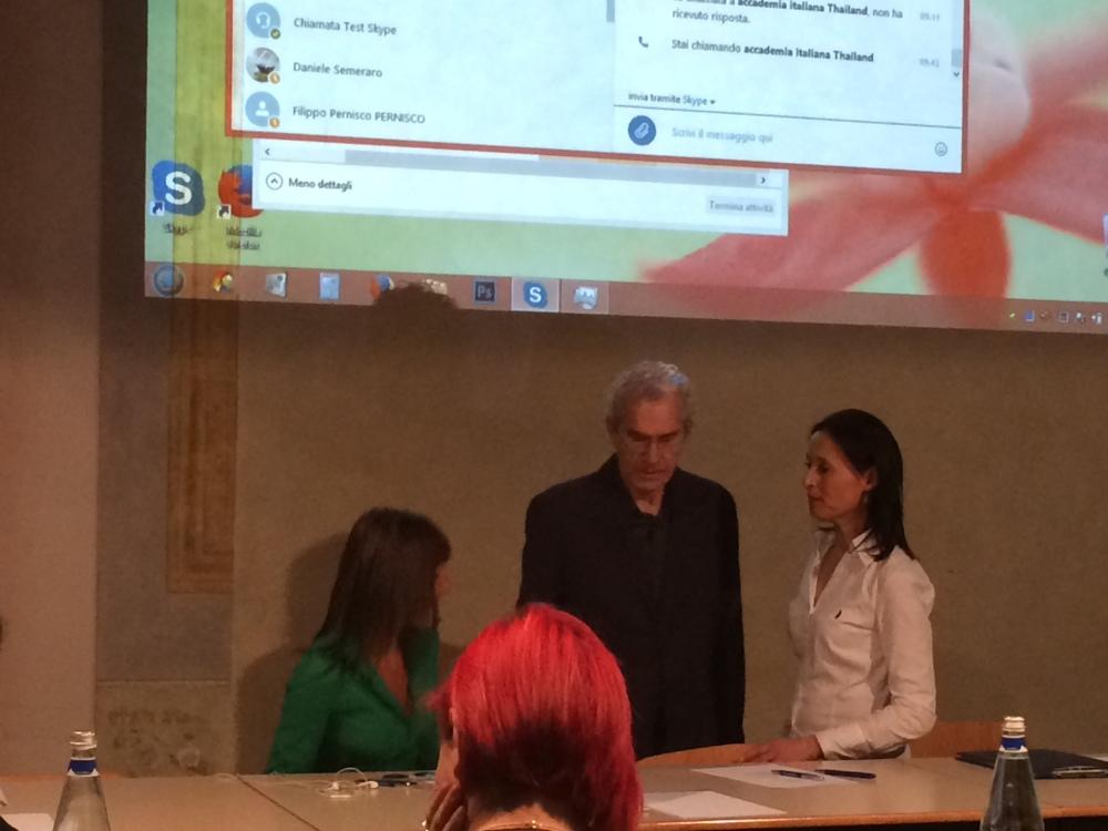 Roberta Colla all'Accademia Italiana di Firenze